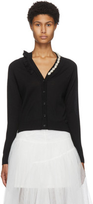 Simone Rocha Black Wool and Silk Cardigan