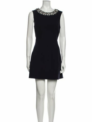 Oscar de la Renta 2016 Mini Dress Wool