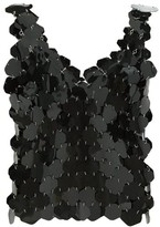 Paco Rabanne Hexagonal-paillette Chainmail Top - Womens - Black