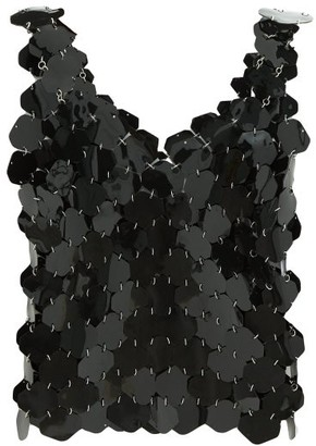 Paco Rabanne Hexagonal-paillette Chainmail Top - Womens - Black