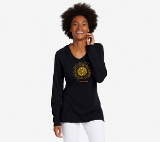 Life is Good Tribal Sun Hooded Smooth T-Shirt