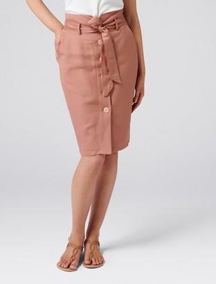 Ever New Elsa Linen-Blend Pencil Skirt