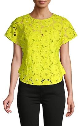 Diane von Furstenberg Nellie Floral Lace Top