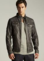 X-Ray Faux Leather Zip Moto Jacket