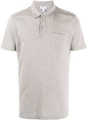 Sunspel Knitted Short Sleeve Polo Shirt