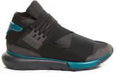 Y-3 Qasa stretch-leather high-top trainers