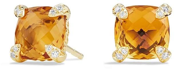 David Yurman Ch'telaine Earrings with Citrine in 18K Gold