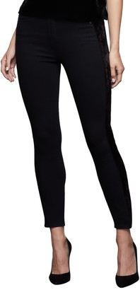Good American Paneled Velvet Jeans