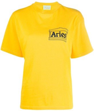 Aries crew-neck logo T-shirt