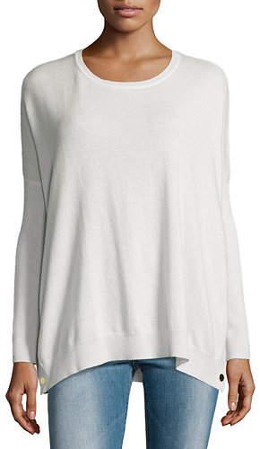Joan Vass Long-Sleeve Wool-Cashmere Tunic, Petite