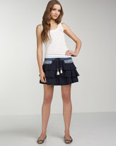 Bella Tiered Embroidered Skirt