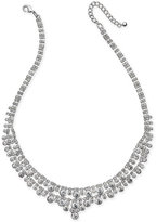Charter Club Silver-Tone Multi-Crystal Statement Necklace, Only at Macy's