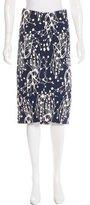 Zero Maria Cornejo Embroidered Midi Skirt