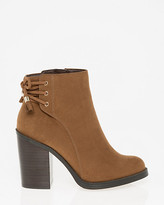 Le Château Suede-Like Almond Toe Ankle Boot