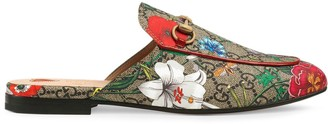 Gucci Princetown GG Flora print slippers