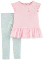 Carters Little Girls Peplum Lace Tunic