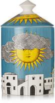 Fornasetti Sol Di Capri Scented Candle, 300g - Blue