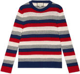 Gucci Striped cashmere crew neck sweater