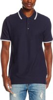 Fruit of the Loom Mens Tipped Short Sleeve Polo Shirt (M) (White/Deep Navy)