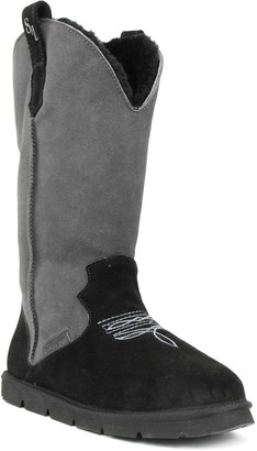 Superlamb Cowboy Women's Leather Sherpa Winter Boots