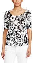 Lauren Ralph Lauren Printed Linen T-Shirt, Black/Pearl