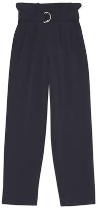 Ganni Belted High-Waist Trousers