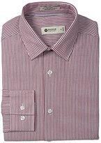 Haggar Men's Bold Stripe Point Collar Regular-Fit Long-Sleeve Dress Shirt