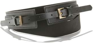 La Redoute Collections Wide Double Buckle Belt with Elasticated Back