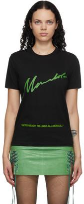 Mowalola Black Print No Morals T-Shirt
