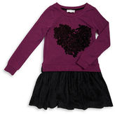 Jessica Simpson Girls 7-16 Contrast Heart Dress