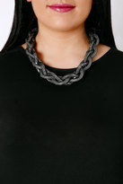 Yours Clothing Black & Silver Twisted Statement Necklace