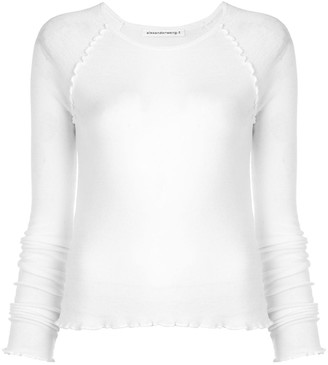 Alexander Wang frilled ribbed jumper