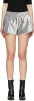 Off-White Silver Lurex Shorts