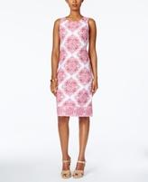 Charter Club Petite Medallion-Print Sheath Dress, Created for Macy's