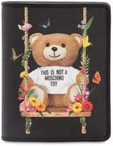 Moschino Teddy Printed Snap Wallet