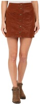 Free People Come A Little Closer Faux Leather Skirt