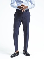 Banana Republic Standard Pinstripe Performance Wool Dress Pant