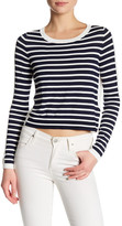 French Connection Long Sleeve Crew Neck Stripe Sweater