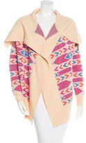 Torn By Ronny Kobo Patterned Wool Cardigan