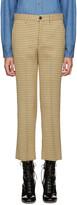 Miu Miu Yellow Check Flared Trousers