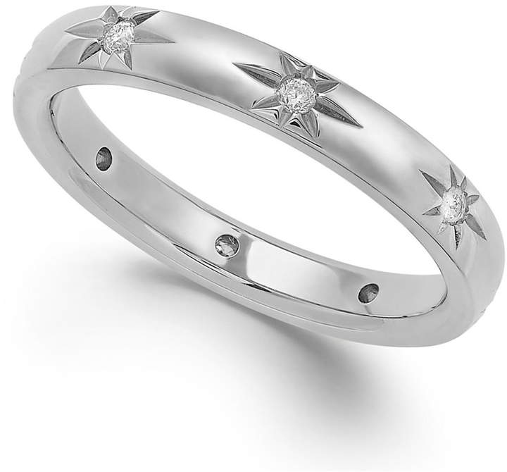 Marchesa Star by Diamond Star Wedding Band in 18k White Gold (1/8 ct. t.w.), Created for Macy's