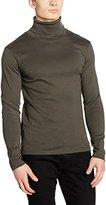 Esprit Men's 106EE2K037 - Rollkragen Long Sleeve Top, Green (Dark Khaki)