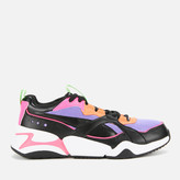 Puma Women's Nova 2 Trainers Black/Mist Green