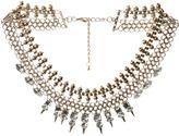 Arden B Stone & Spike Metal Necklace