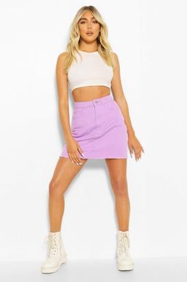 boohoo Denim Mini Skirt