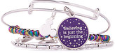 Disney Tinker Bell ''Believing is just the beginning'' Bangle Set by Alex and Ani