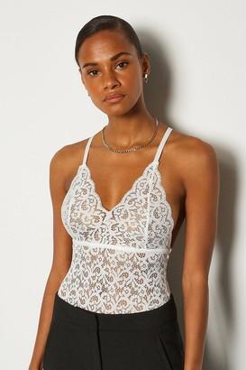 Karen Millen Strappy Lace Multi Cross Back Body