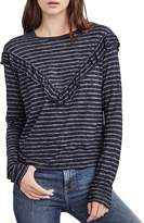 Velvet by Graham & Spencer Carlyn Ruffled Striped Tee