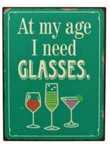 Bohemia Glasses Tin Sign