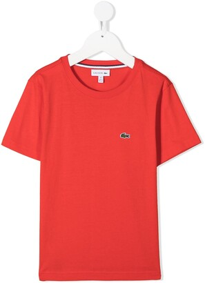 Lacoste Kids embroidered logo T-shirt
